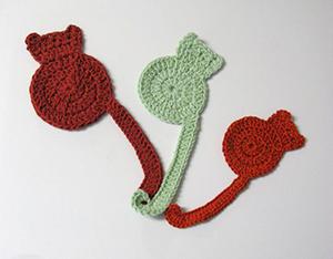 marque page en crochet en forme dechat